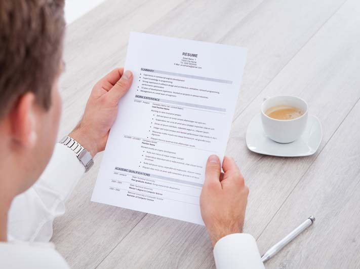 Holding a CV